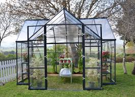 Greenhouse Palram Palram Four Season Chalet Hobby Greenhouse Charcoal Gray