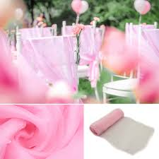 90 pcs lot new light pink organza chair sashes bow cover banquet