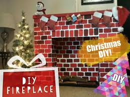 Decorate Cardboard Box From Cardboard Box For Fireplace Fake Fireplace For Christmas