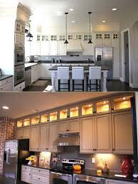how to put lights above cabinets 20 stylish and budget friendly ways to decorate above