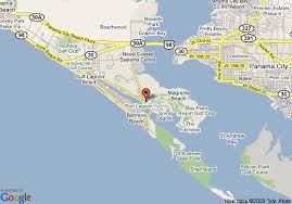 map of panama city map of hton inn at panama city panama city