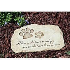 memorial stepping stones evergreen garden pet paw print devotion painted