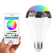 led light bulb speaker 1byone app controlled bluetooth 4 0 speaker multicolored led