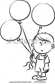 royalty free little holding balloons 257646517 stock photo