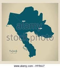 map of tabuk map of saudi arabia the region tabuk stock vector