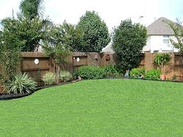 Landscaping Backyard Ideas Best Small Backyard Ideas Back Yard Trees Along Fence More A