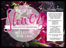 monthly flower delivery fresh floral delivery subscription blooms bliss floral and