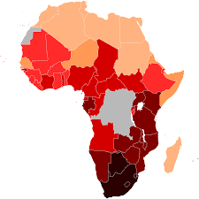 Map Of Sub Saharan Africa Hiv Aids In Africa Wikipedia