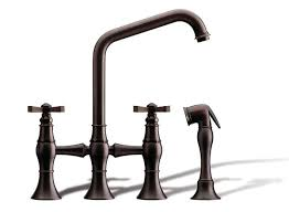 bridge kitchen faucet with side spray kitchen faucets fantasia showrooms