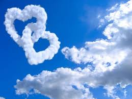 heartshaped white clouds highdefinition picture 04 free