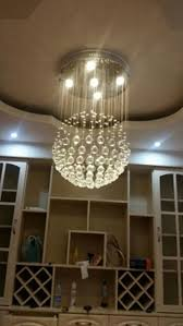 kitchen island pendant lights led crystal ball chandelier dining room globle with pendants