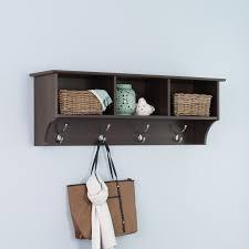 prepac fremont espresso entryway cubbie shelf and coat rack