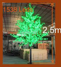 cheap 2 5m led tree light simulation maple tree