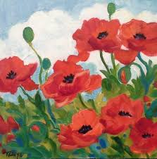 Paint Colorful - beginner u0027s acrylic painting colorful poppy garden presented by