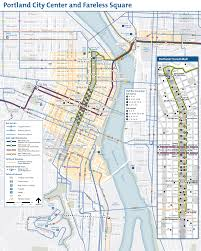 Map Of Portland Portland Downtown Transport Map City Center U2022 Mapsof Net