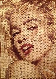 wine corks marilyn monroe portrait made of wine corks youtube
