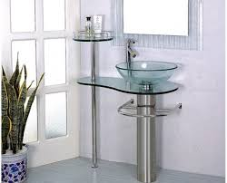 Pedestal Bathroom Vanity 29 Inch Wall Mounted Single Chrome Metal Pedestal Bathroom Vanity