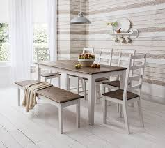 Table And 4 Chairs And Bench Canterbury Dining Table In Contemporary