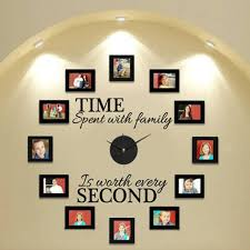 time spent with family wall decal and clock set included clock