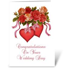 card for wedding congratulations hearts flowers wedding congratulations send this greeting card