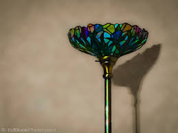 Stained Glass Floor Lamp A Stained Glass Floor Lamp And Its Shadow Edbookphoto