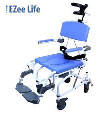 aluminum tilt shower commode rehab chair model 190