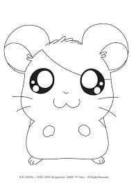 coloriage de hamster a imprimer