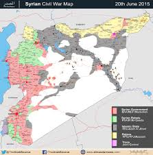 Map Of United States During Civil War by Battle Map Syrian Civil War June 2015