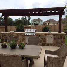 Pergola Kitchen Outdoor by Outdoor Kitchens In The Woodlands Hortus Landscape Design