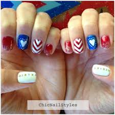 4th of july nails and marie claire giveaway link chic nail styles