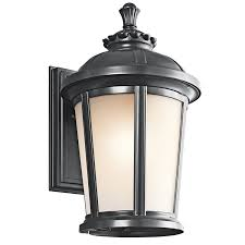Rustic Outdoor Wall Lighting Kichler Lighting 49411bk Ralston Transitional Outdoor Wall Sconce