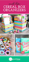 diy washi tape cereal box organizers one good thing by jillee
