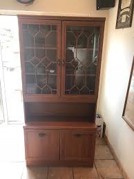 wood and glass cabinet wooden glass cabinet in poole dorset gumtree