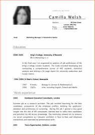 Sample Resume Format Basic by Write Objective Summary Examples Student Curriculum Vitae Template
