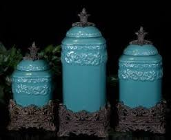 turquoise kitchen canisters colorful canister sets foter