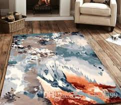 Carpet Squares Rug Abstract Modern Design Home Hand Tufted Handmade Wool Carpet Tile