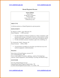Resume Objective Necessary Resume Objective Dental Hygienist Resume Cover Letter Example