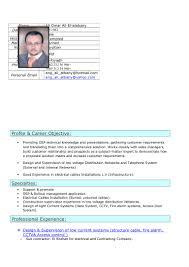 Cctv Experience Resume Plz Get Attachment My C V Ali El Atabany Electrical Engineer Last Up U2026