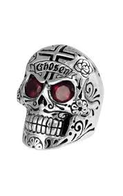 baby king rings images Mens skull ring skull w garnet cross rings for men king baby jpg
