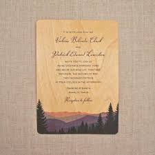 mountain wedding invitations real wood wedding invitations smoky mountains 2594883 weddbook