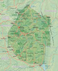 Swaziland Map Swaziland Travel Information And Guide Bradt Travel Guides