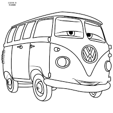 volkswagen van drawing cars 3 coloring pages getcoloringpages com