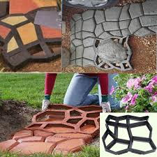 Concrete Garden Furniture Molds by Driveway Paving Mold Diy Patio Concrete Garden Pathmate Stone Path