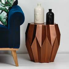 Copper Side Table Copper Geo Side Table Stool Me And My Trend