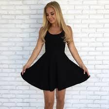 black skater dress quinn skater dress in black dainty hooligan boutique