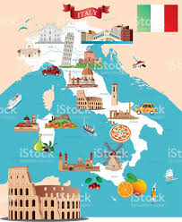 Map Of Florence Italy Cartoon Map Of Italy Stock Vector Art 501967576 Istock