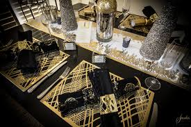 Gold Table Decorations Black And Gold Christmas Table Decorations 218