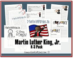 free preschool and k 3 martin luther king jr printables free