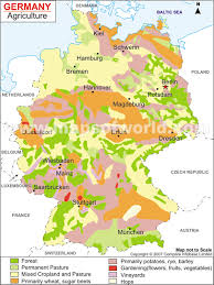 map of germny agriculture map
