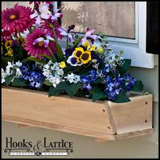 Wooden Window Flower Boxes - tapered cedar wood window box promises elegant grey tones